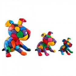 """Set de 3 chiens """"MARCEL"""" H.27/17/12 cm"""