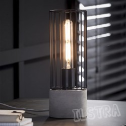 "Lampe de table cylindre ""LUIS"" H.34 cm"