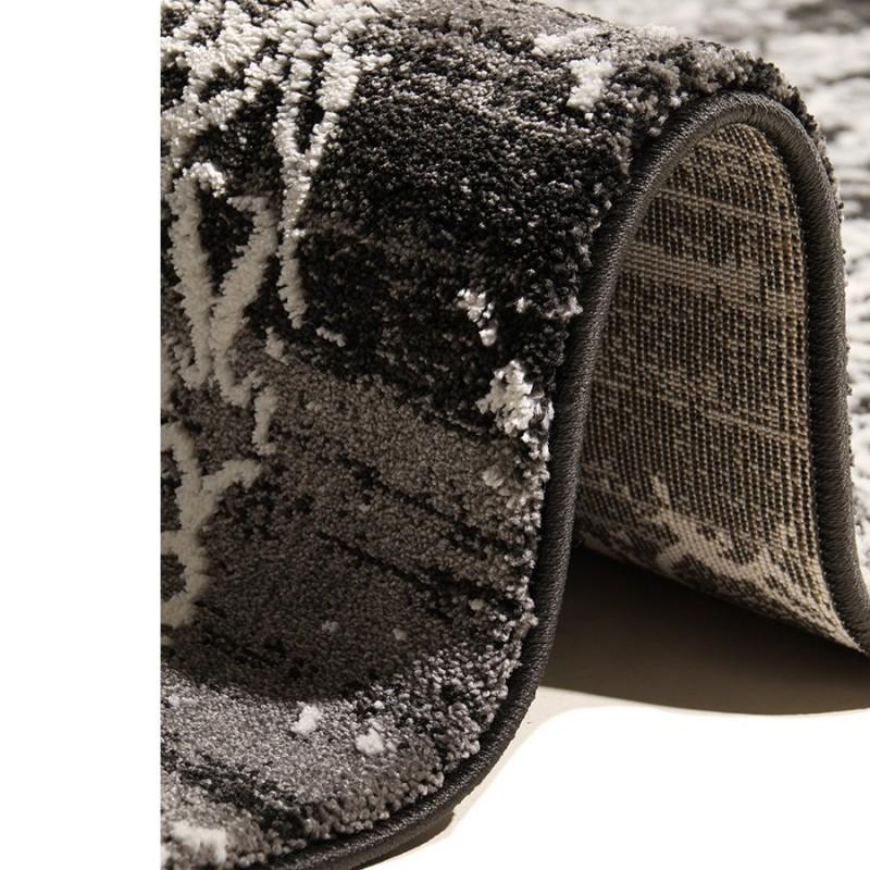 tapis aaron noir et blanc d f i. Black Bedroom Furniture Sets. Home Design Ideas