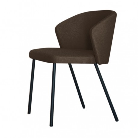 "Chaise ""MAEVA"" marron"