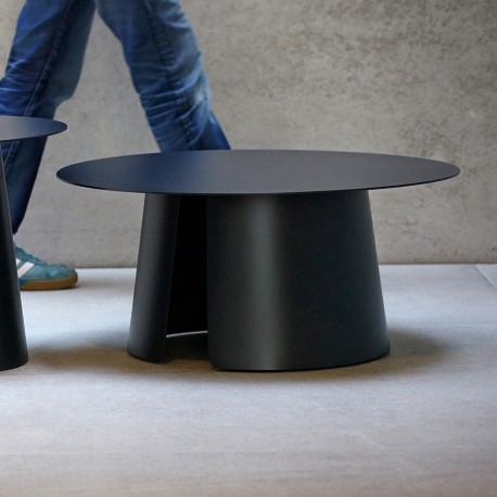 "Table basse ""ROUND"" Ø 80 cm anthracite"