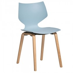 "Lot de 4 Chaises ""SULLY"" bleu azul"