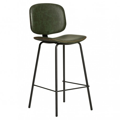 "Lot de 2 Tabourets de bar ""MAUD"" verts"