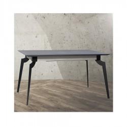 """Table avec allonge 90 cm et plateau en céralite """"MYGALE"""" L160 cm"""