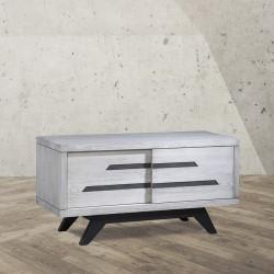 Meuble TV 2 portes coulissantes « MILANO » largeur 120 cm