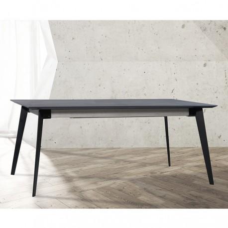 """Table avec allonge 90 cm et plateau en céralite """"MILANO"""" L200 cm"""
