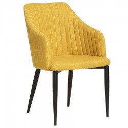 "Lot de 2 Fauteuils ""MAX"" jaune moutarde"