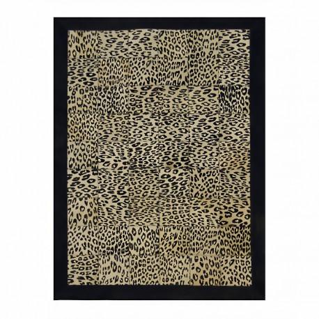 """Tapis carrés imitation """"PANTHERE"""" avec contour 160x220 cm"""