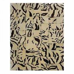 """Tapis carrés imitation """"TIGRE"""" sans contour 160x220 cm"""