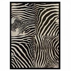 "Tapis 4 rectangles ""ZEBRA"" avec contour 160x220 cm"