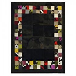 """Tapis """"PATCH"""" noir et multi-couleurs avec contour 160x220 cm"""