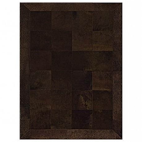 "Tapis avec estampes ""COCO"" marron 160x220 cm"
