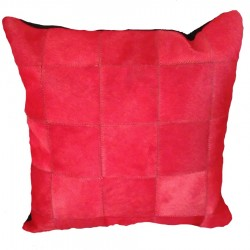 "Coussin ""PATCHWORK"" rouge"
