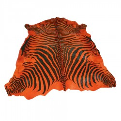 "Peau ""ZEBRE"" orange 4 m²"