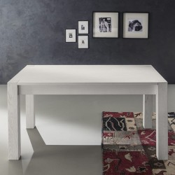Table avec rallonges « CASSINO » blanche