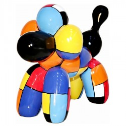 """Sculpture chien ballon """"RICK"""" H.35 cm"""