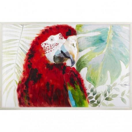 """Peinture sur toile et plexiglass """"COCO"""" 80X120 cm"""