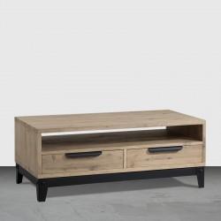 Table basse 2 tiroirs « FACTORY » largeur 120 cm