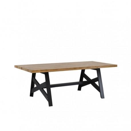 Table pieds croix « FACTORY » largeur 160 cm