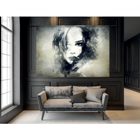 Tenture murale design en coton 190x145cm The Look