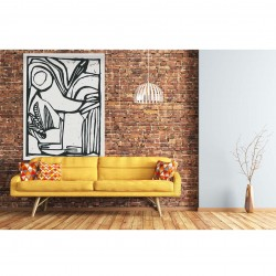 Tenture murale design en coton 145x190cm Vogel