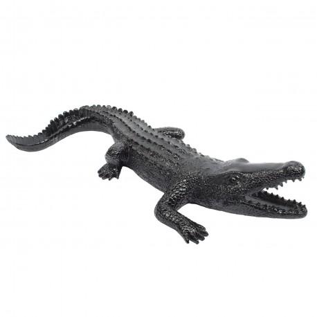 "Sculpture crocodile ""CALEN"" L.70 cm"