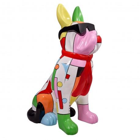 """Sculpture chien """"MALIN"""" H.102 cm"""