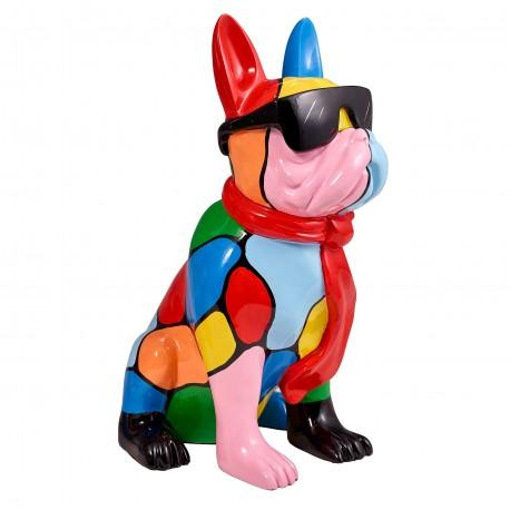 "Sculpture chien ""MAMBO"" H.36cm"