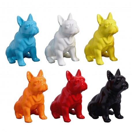 "Lot de 6 sculptures chiens ""NIKITA"" H.17 cm"