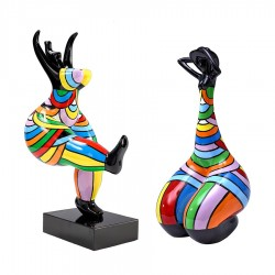 Lot de 2 sculptures femmes THERA H.45 cm