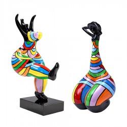 Lot de 2 sculptures femmes THERA H.42 cm