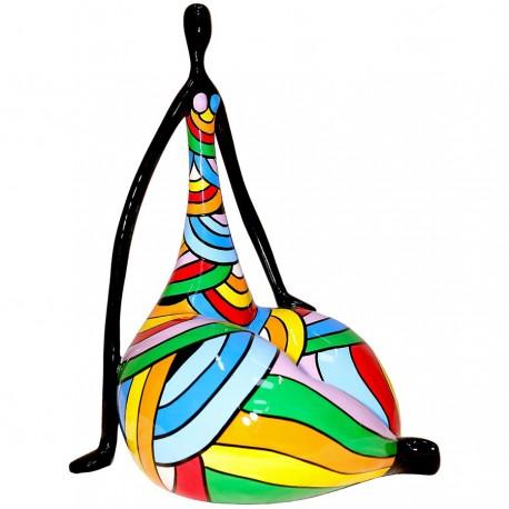 Sculpture femme ZEFIRA H. 50 cm