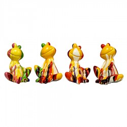 Lot de 4 sculptures grenouilles JOLA H. 20 cm