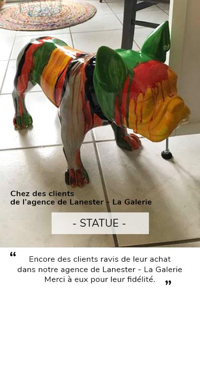 Statue chien Lanester client