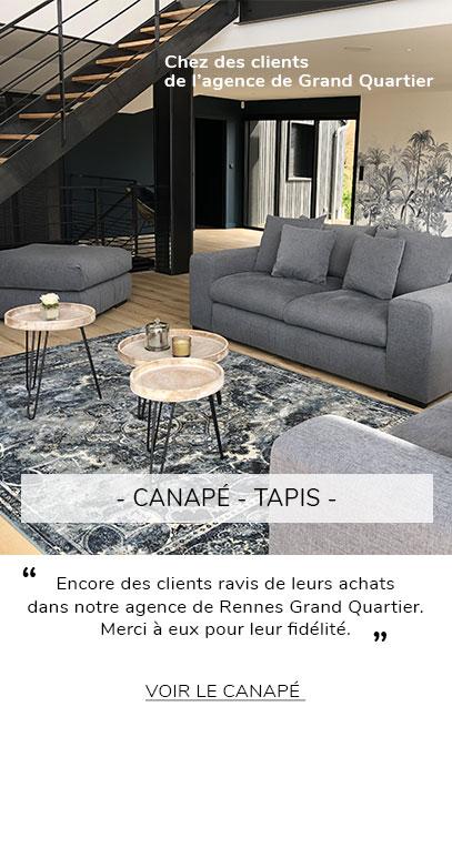 Avis client Canapé et tapis