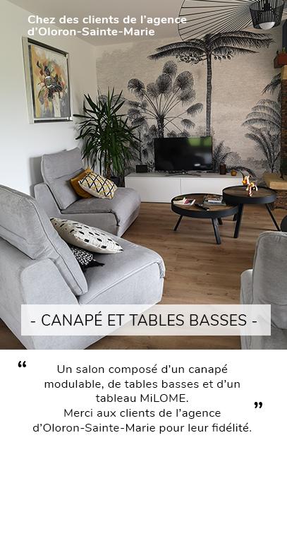 Canapé modulable et tables basse - OCanapé, tableau et tables basses - MiLOME Oloron