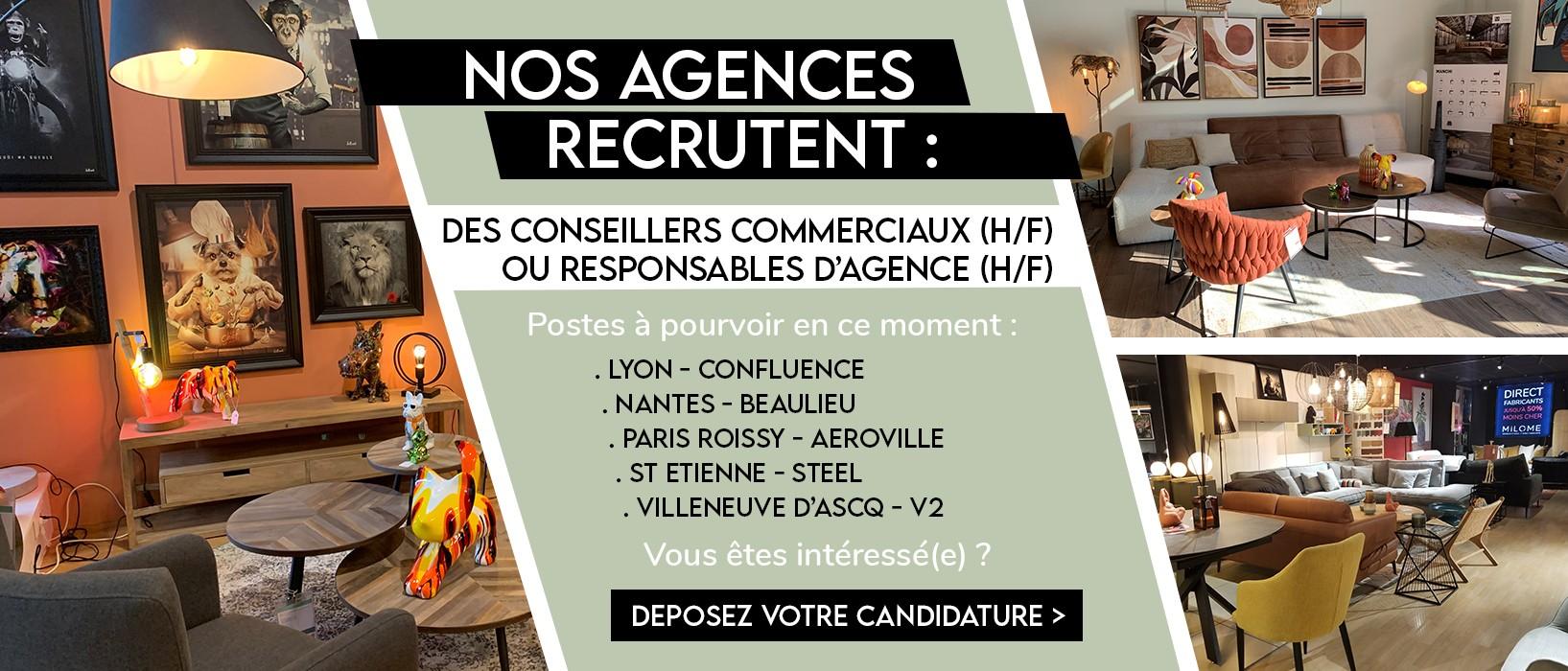 Nos agences MiLOME recrutent !