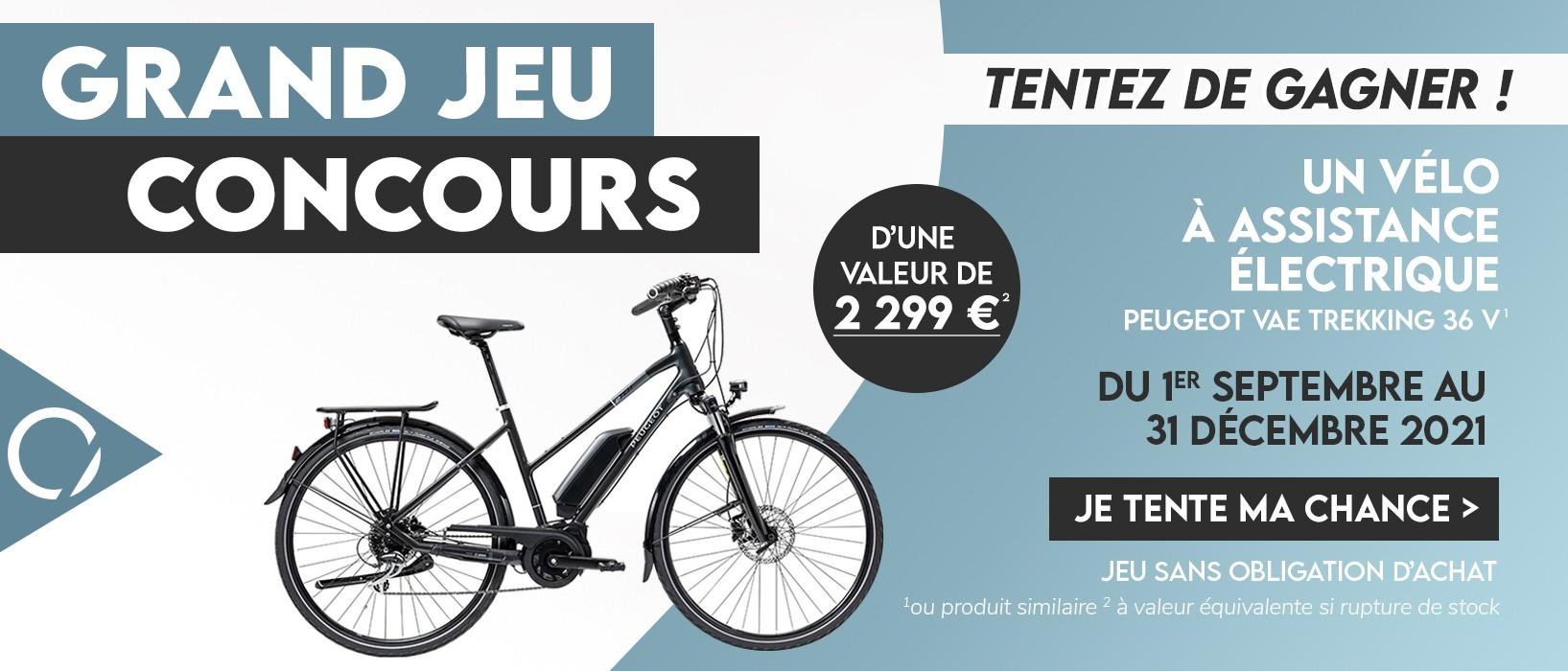 Jeu concours: Vélo électrique 1er septembre au 31 décembre 2021